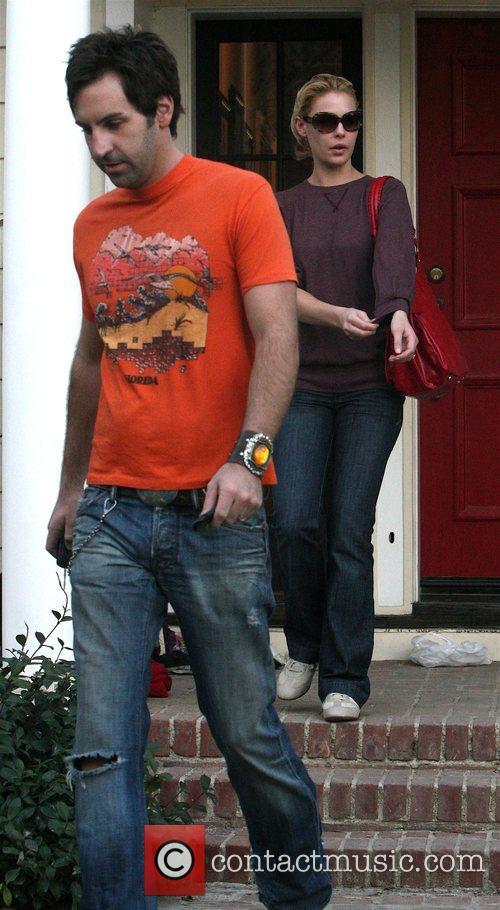 Katherine Heigl and husband Josh Kelley leaving their...