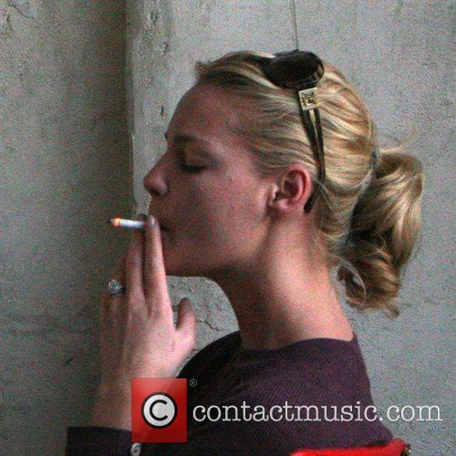 Katherine Heigl smoking a cigarette when enjoying a...