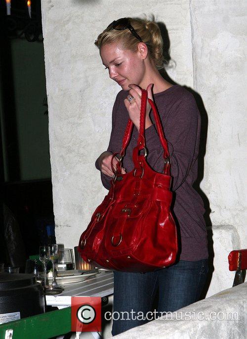 Katherine Heigl leaving a Los Angeles restaurant after...