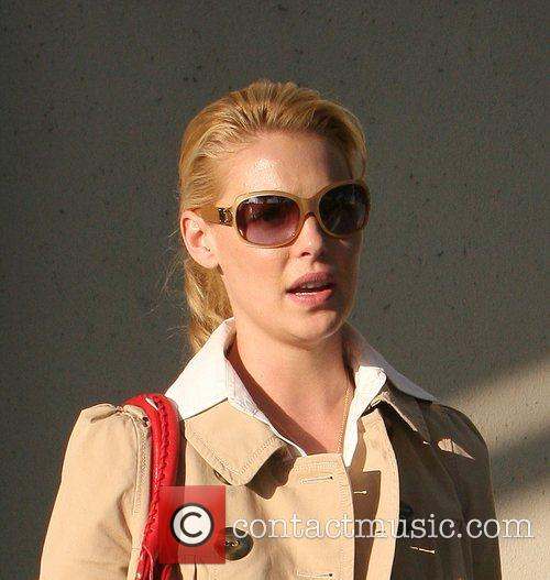 Katherine Heigl having lunch at Figaro Cafe with...