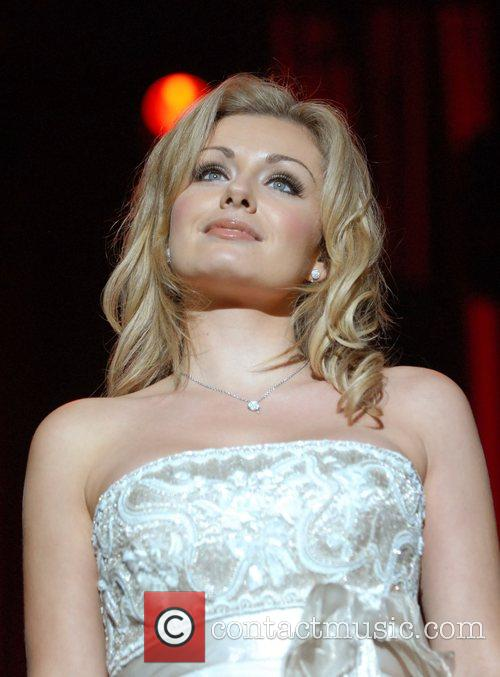 Katherine Jenkins performing live at the Tower of...