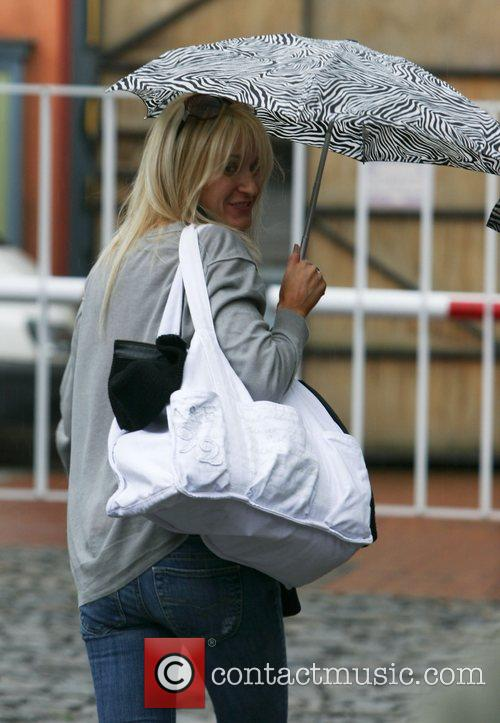 Arrives for filming of ' Coronation Street '