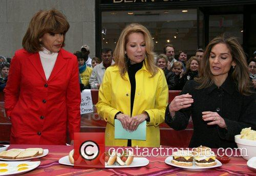 Hoda Kotb and Kathie Lee Gifford during a...
