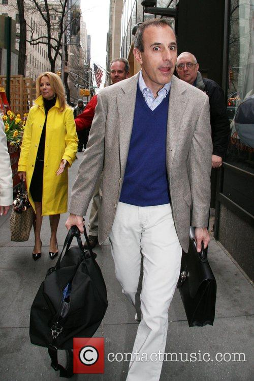 Matt Lauer leaving the studio on Kathie Lee...