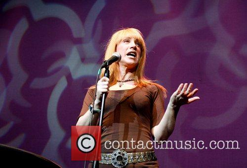 Kathy Griffin performing her comedy routine live onstage...