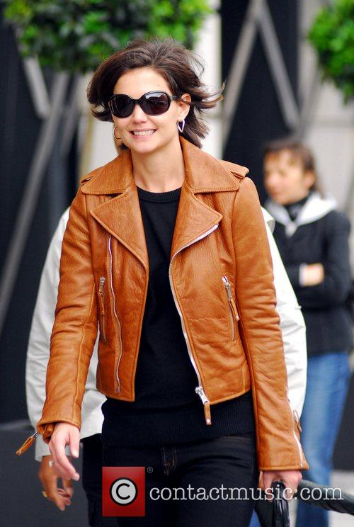 Katie Holmes after shopping at The Corner at...