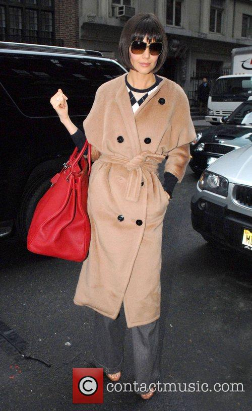 Katie Holmes  out and about on the...