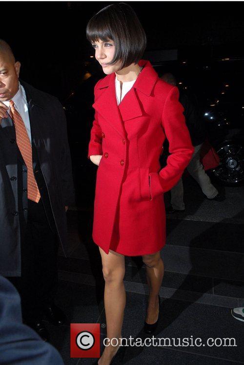 Katie Holmes arrives at her Manhattan hotel New...