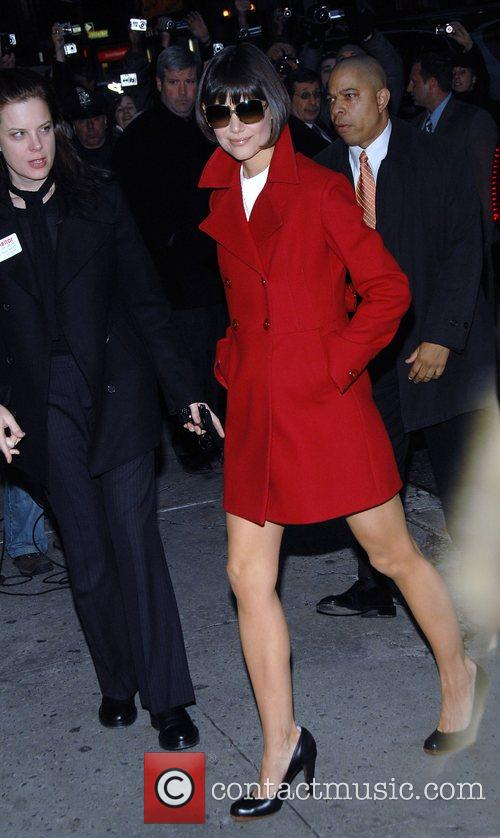 Katie Holmes and David Letterman 11