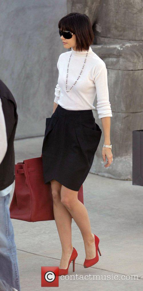 Katie Holmes leaving Maxfield in Hollywood after doing...