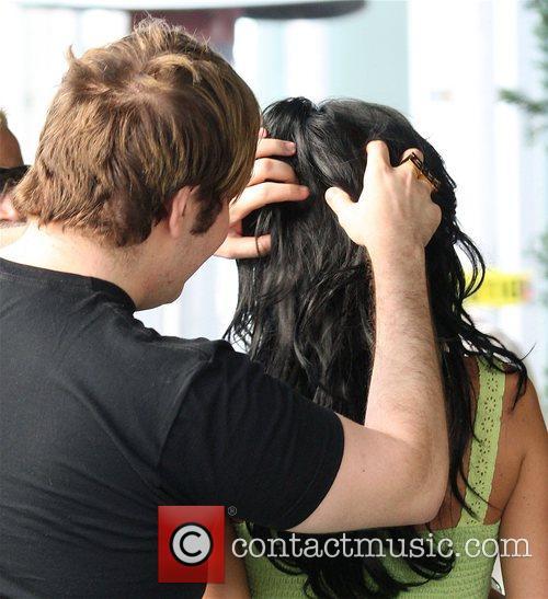 Perez Hilton checks out Katie Price's hair when...