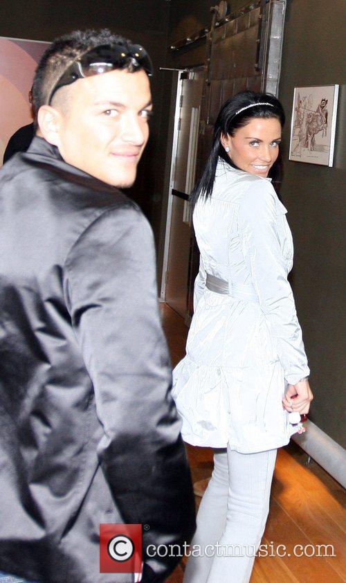 Peter Andre and Katie Price aka Jordan arriving...