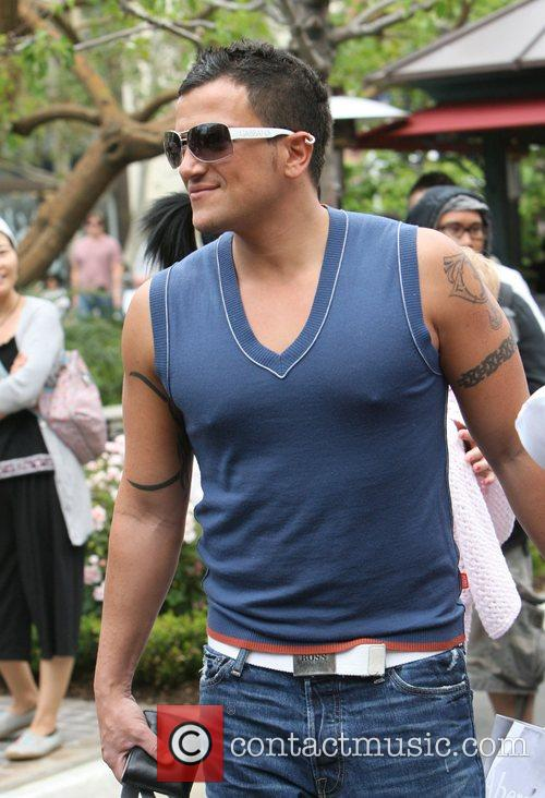 Peter Andre at the Grove in West Hollywood...