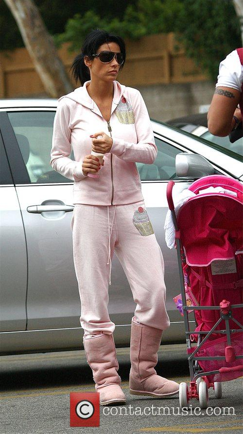 Katie Price with her daughter Princess Tiaamii went...