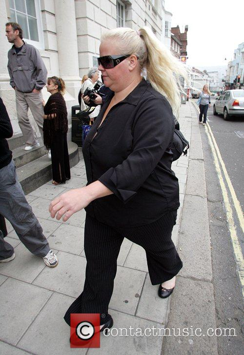 Joanne Hillman arriving at court where she is...