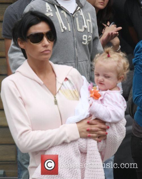 katie price with her daughter princess tiaamii at the grove in west hollywood 5120978