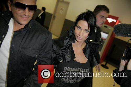 Peter Andre and Katie Price arrive at LAX...