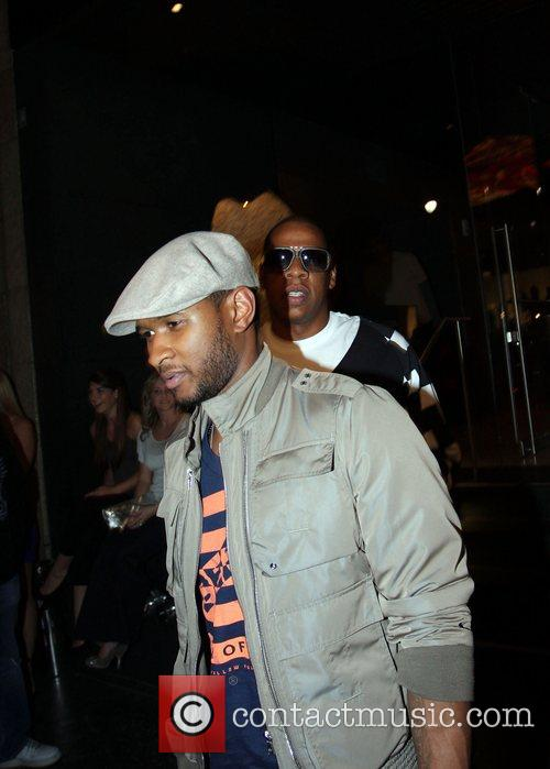 Usher and Jay-z Leaving Katsuya Restaurant In Hollywood Together 5