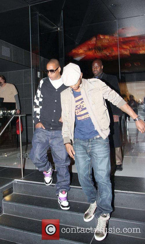 Usher and Jay-Z leaving Katsuya Restaurant in Hollywood together 19