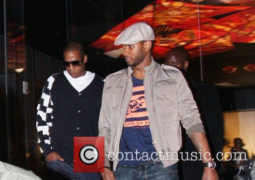 Usher and Jay-Z leaving Katsuya Restaurant in Hollywood together 12