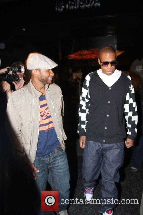 Usher and Jay-Z leaving Katsuya Restaurant in Hollywood together 17