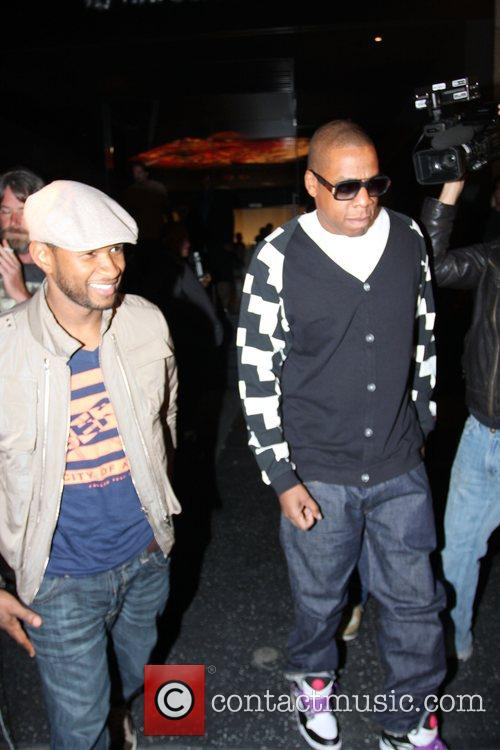 Usher and Jay-Z leaving Katsuya Restaurant in Hollywood together 16