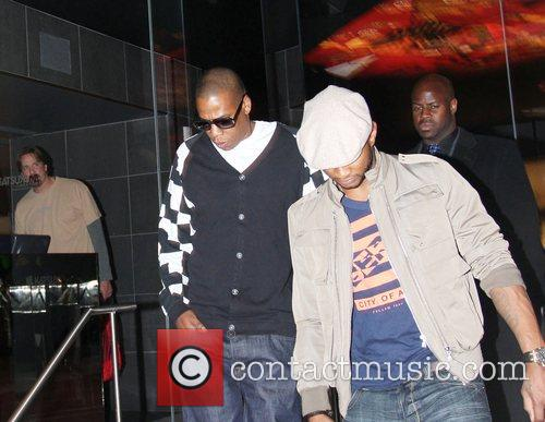 Usher and Jay-Z leaving Katsuya Restaurant in Hollywood together 18
