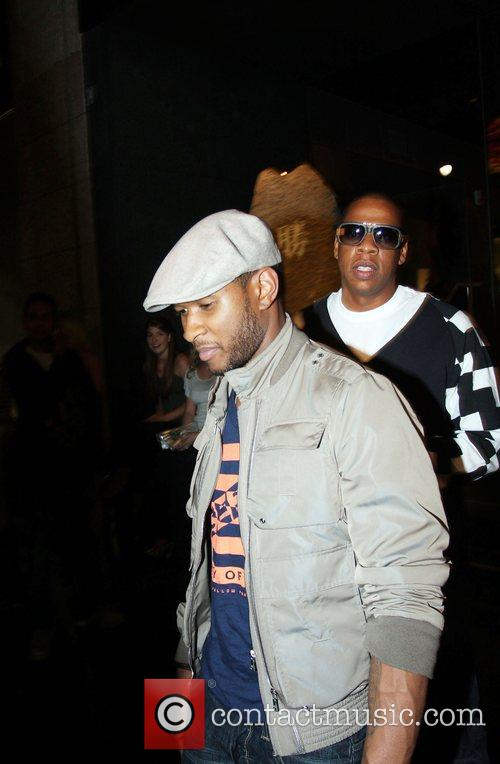 Usher and Jay-Z leaving Katsuya Restaurant in Hollywood together 13