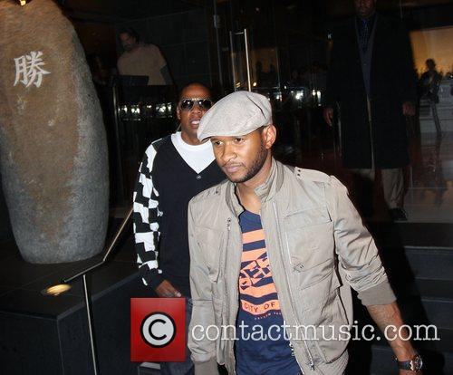 Usher and Jay-Z leaving Katsuya Restaurant in Hollywood together 20