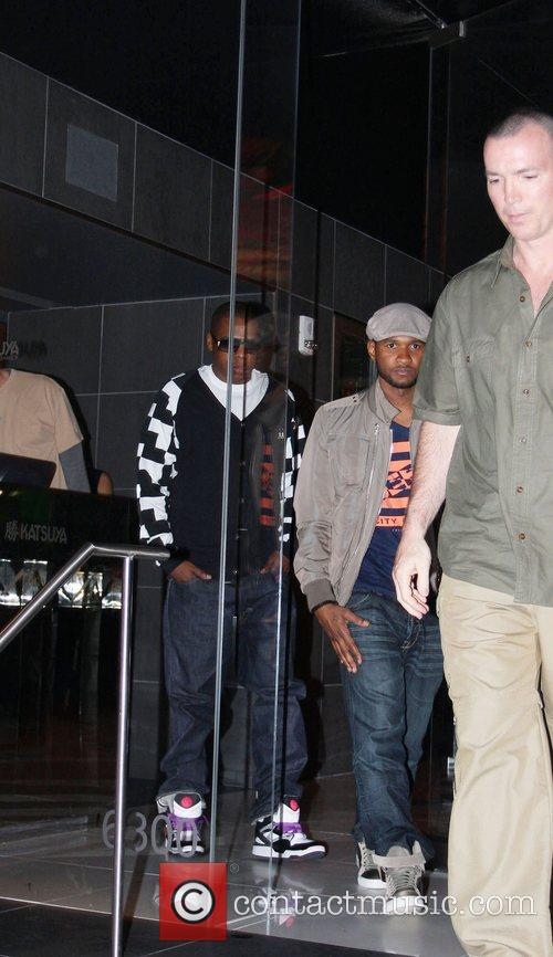 Usher and Jay-z Leaving Katsuya Restaurant In Hollywood Together 9