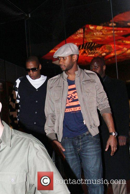 Usher and Jay-z Leaving Katsuya Restaurant In Hollywood Together 2