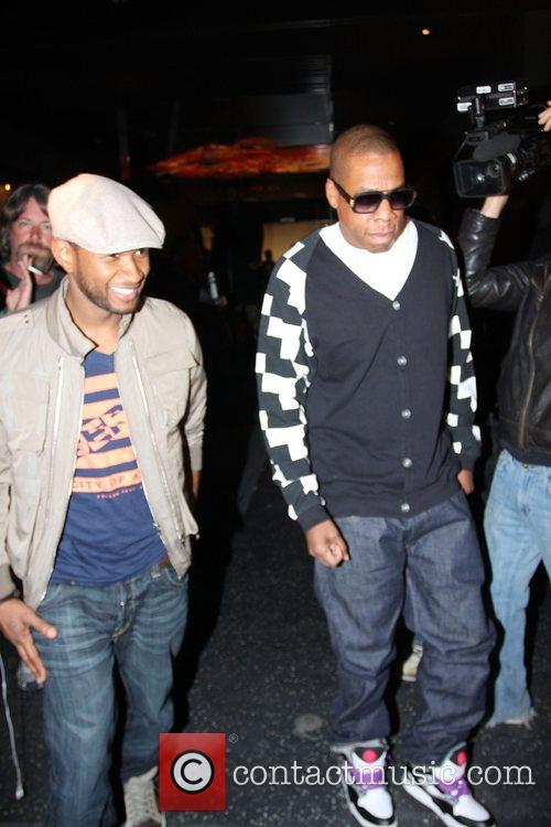 Usher and Jay-z Leaving Katsuya Restaurant In Hollywood Together 4