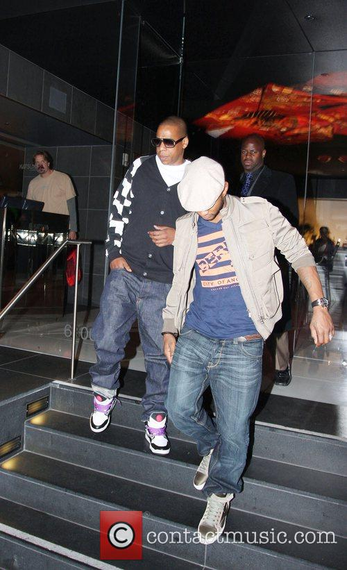Usher and Jay-z Leaving Katsuya Restaurant In Hollywood Together 7