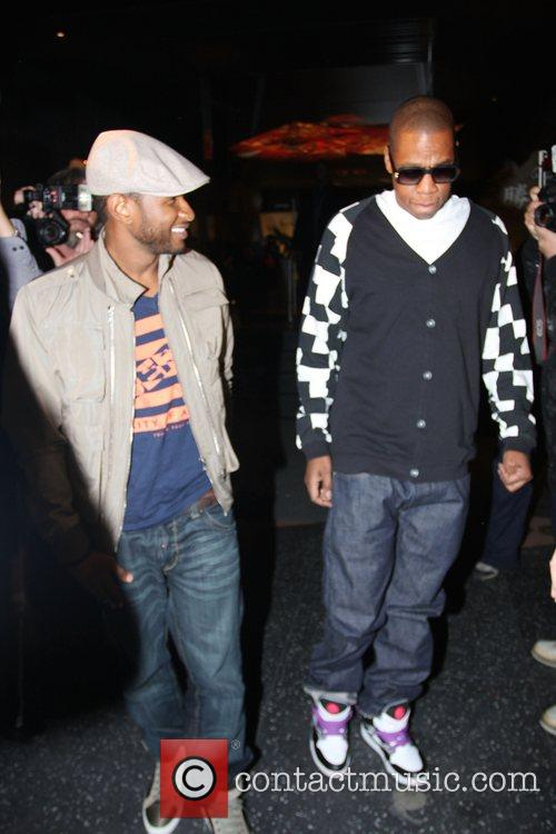 Usher and Jay-Z leaving Katsuya Restaurant in Hollywood together 21