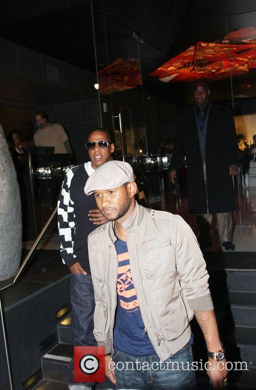 Usher and Jay-z Leaving Katsuya Restaurant In Hollywood Together 3