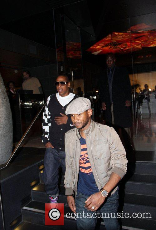Usher and Jay-z Leaving Katsuya Restaurant In Hollywood Together 8