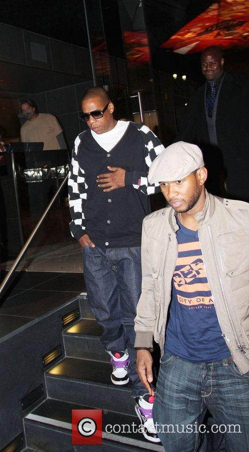 Usher and Jay-z Leaving Katsuya Restaurant In Hollywood Together 1