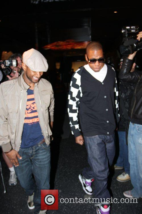 Usher and Jay-z Leaving Katsuya Restaurant In Hollywood Together 10