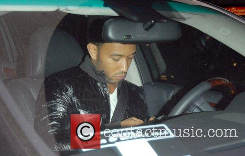 John Legend leaving Katsuya Los Angeles, California