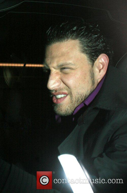 JR Rotem leaving Katsuya restaurant Los Angeles, California
