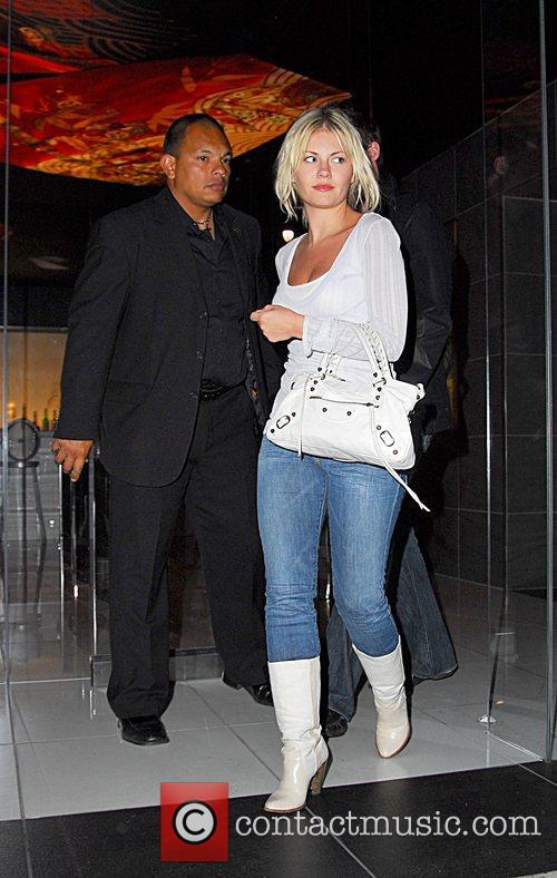 Elisha Cuthbert leaving Katsuya restaurant with her boyfriend...