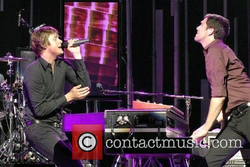 Tom Chaplin and Time Rice-Oxley of Keane performing...