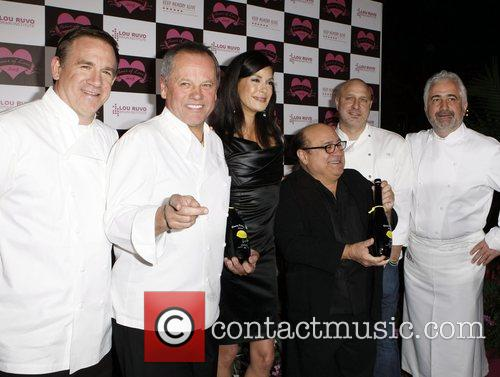 Wolfgang Puck and Teri Hatcher 1