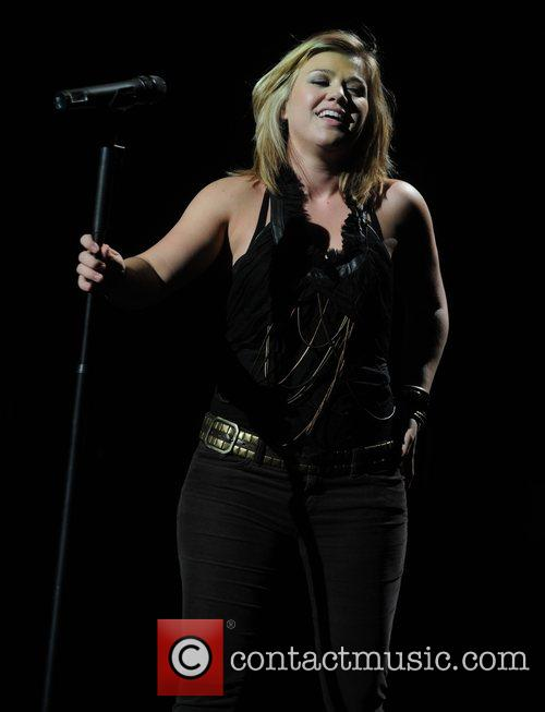 Kelly Clarkson performing live at the Hammersmith Apollo