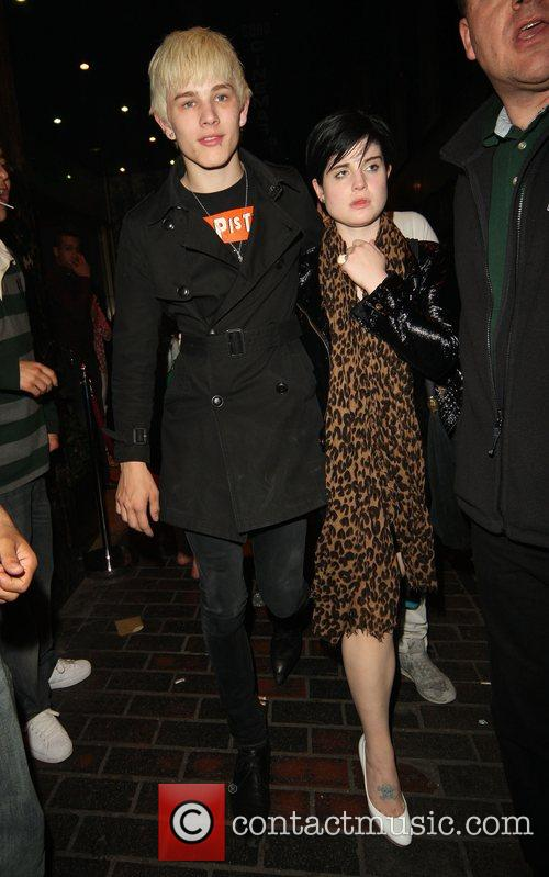 Kelly Osbourne leaving the Revue bar with her...