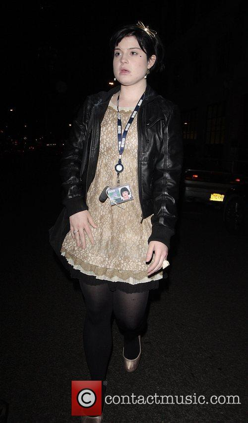 Kelly Osbourne leaving Radio 1 studios London, England