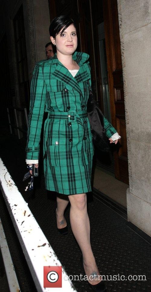 Kelly Osbourne leaving the BBC Radio 1 studios...