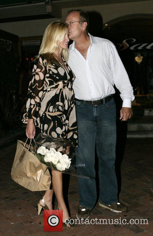 Leaving Nobu restaurant after having a meal with...