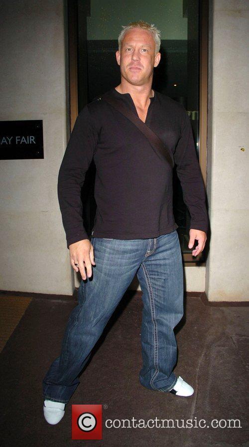 The WWE Wrestler leaving the Mayfair Hotel