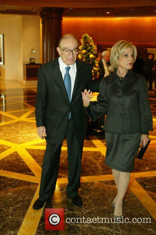 Alan Greenspan and Andrea Mitchell